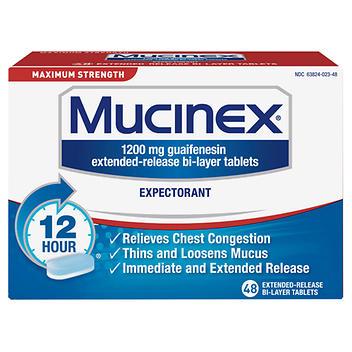 Expectorante de força máxima Mucinex – 48 comprimidos