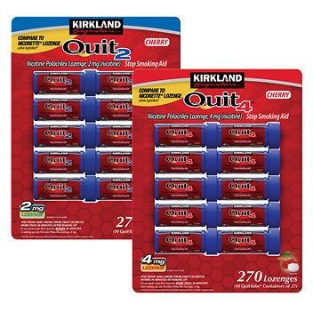 Nicotina Polacrilex Kirkland Signature Quit 2mg. ou 4 mg. pastilhas de cereja- 270 peças