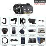 Câmera de vídeo Filamadora Ordro HDR-AC3 4K NTSC-PAL preta.