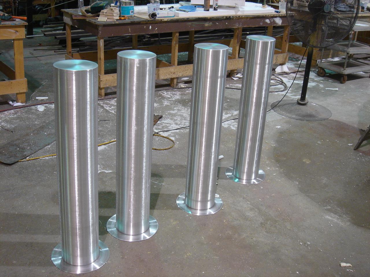 aluminum kitchen chairs games parking bollards — miami prop rental