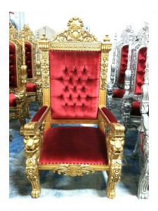 KING THRONE RED  GOLD  Miami Prop Rental
