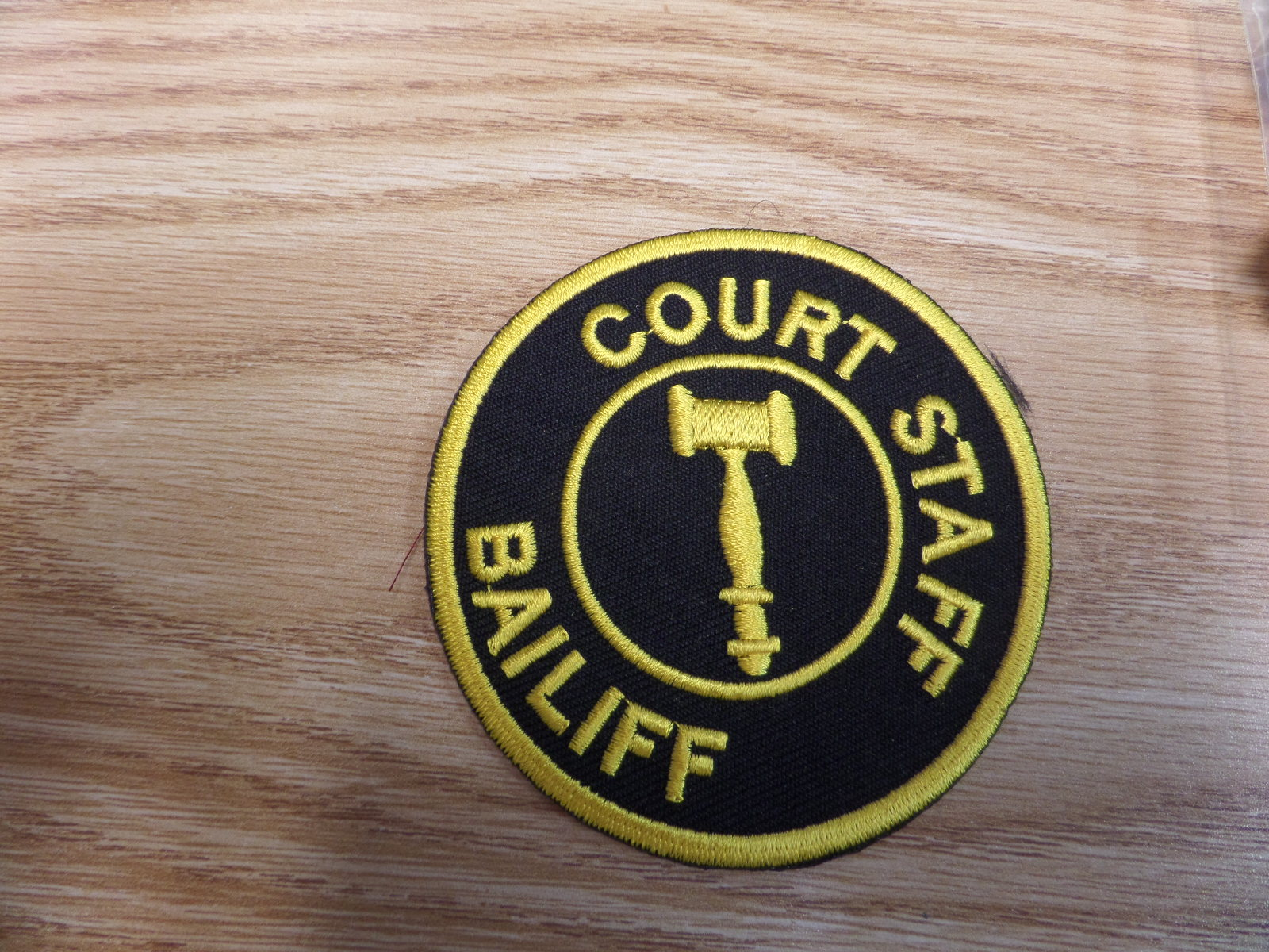 COURT BAILIFF Patch  Miami Prop Rental