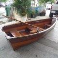 Classic wooden row boat miami prop rental