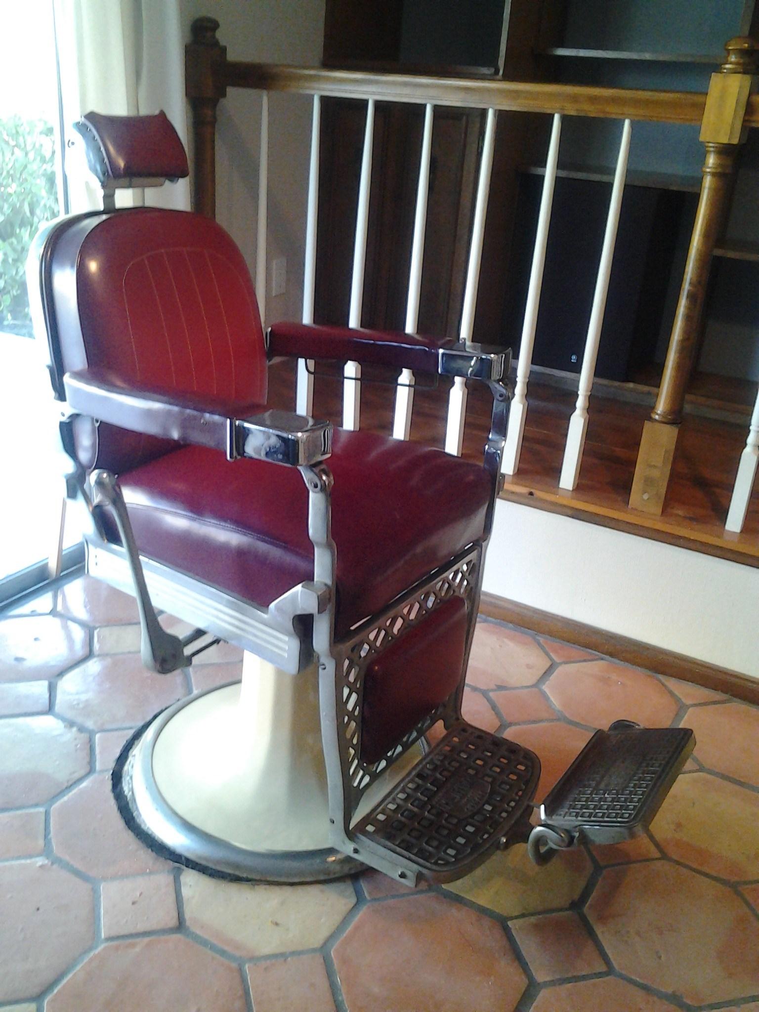 kids car barber chair wooden folding directors red  miami prop rental