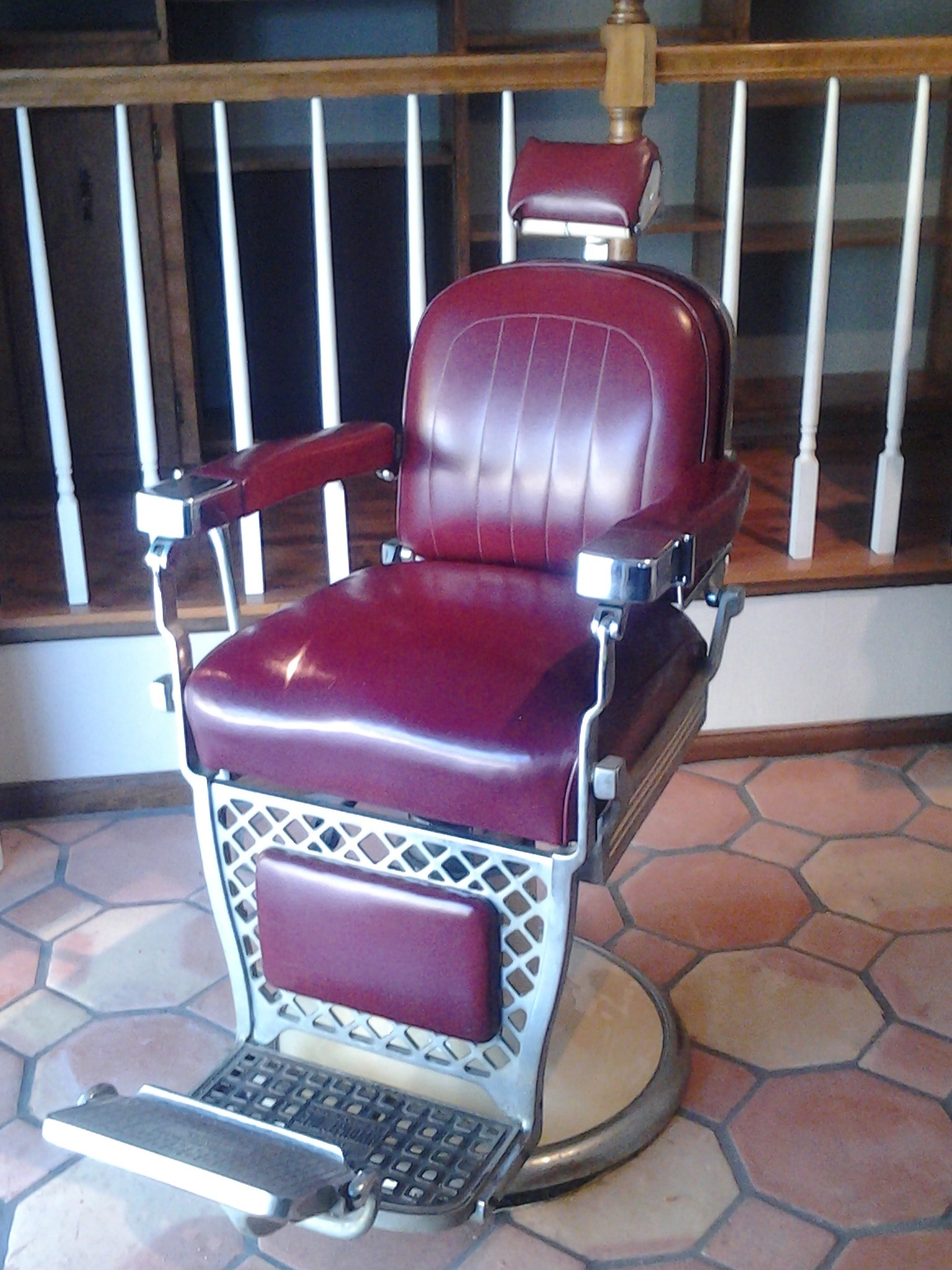 kids car barber chair slip cover for and a half red  miami prop rental