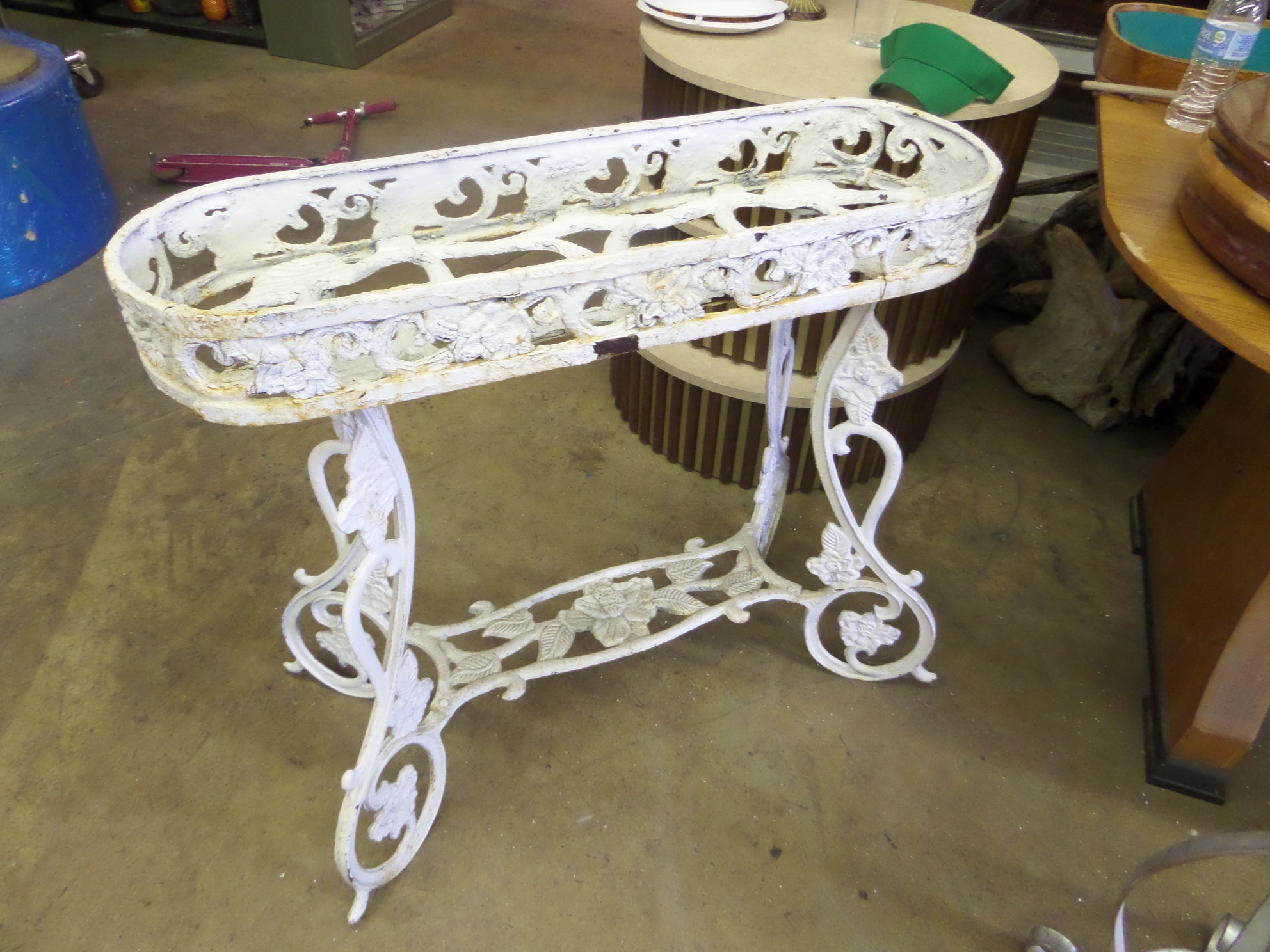 CAST IRON PLANTER  FLOWER POT STAND  Miami Prop Rental