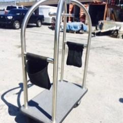Used Kitchen Equipment Miami With Glass Cabinet Doors Bellhop Cart — Prop Rental