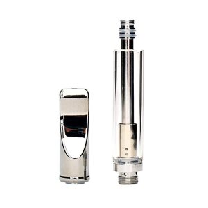 Dual Coil Medicinal Vaporizer Cartridge Stainless Steel Drip Tip Pyrex Glass