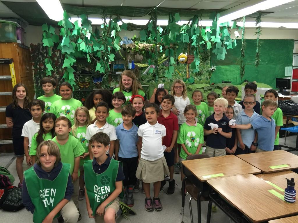 The Coral Reef Elementary School Green Team Rocks