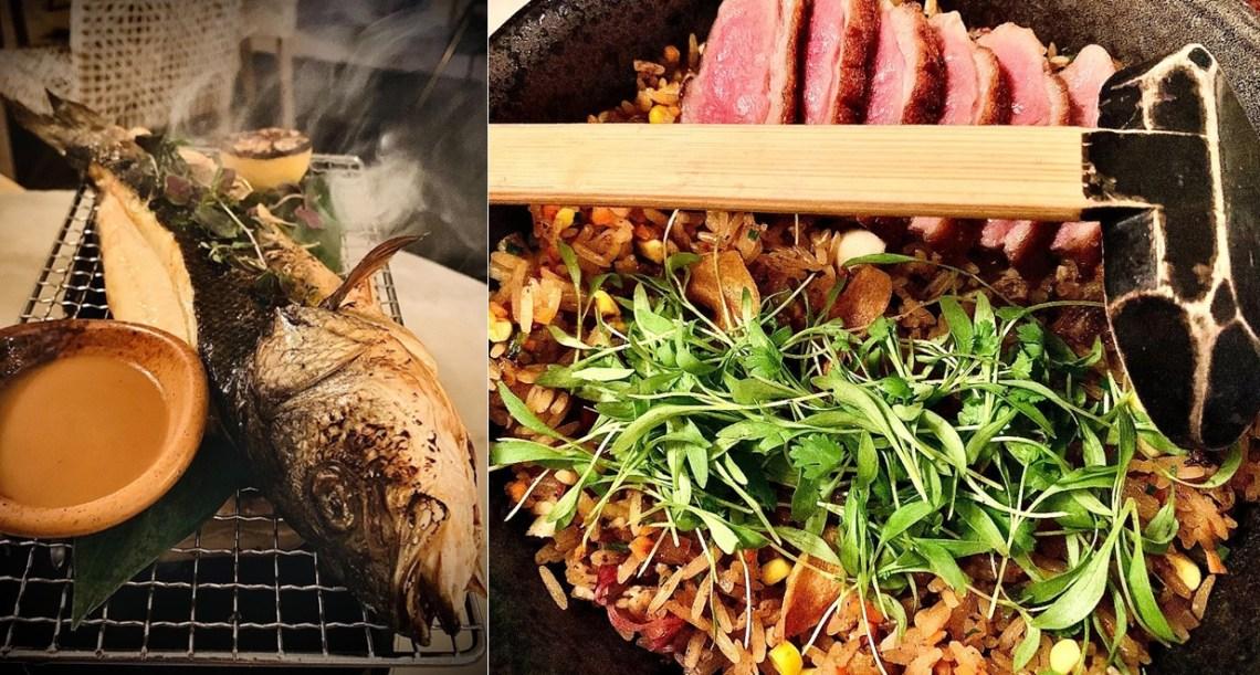 Robata Branzino & Duck Fried Rice