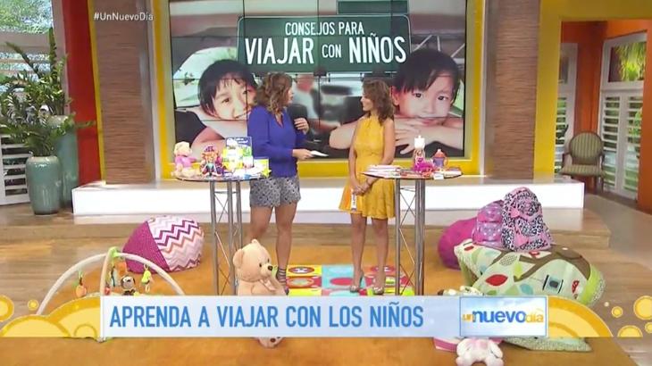 Telemundo Aprenda a Viajar con Niños Paula Zelaya Mia MOmmy