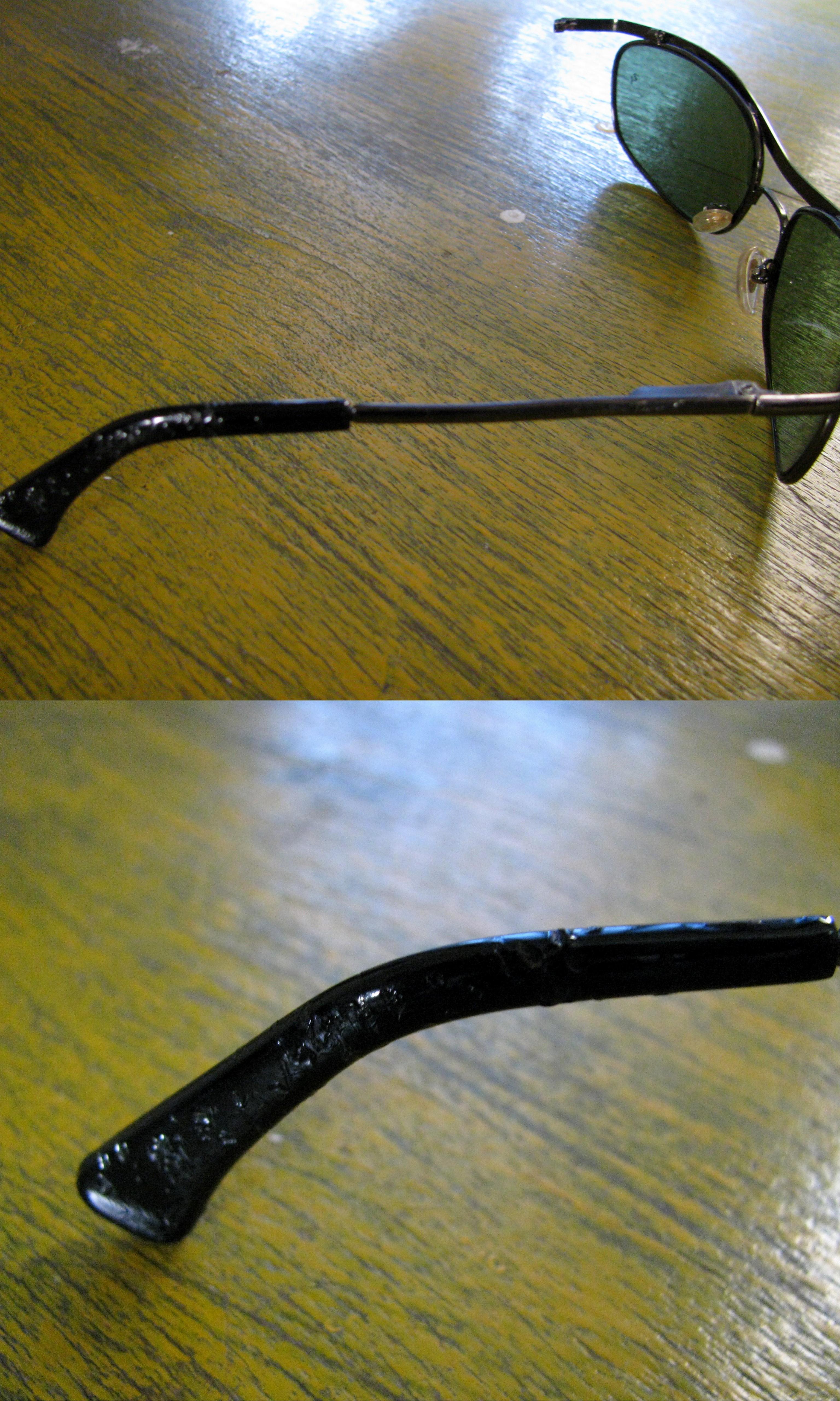 Mia's glasses + monkey's teeth = broken glasses
