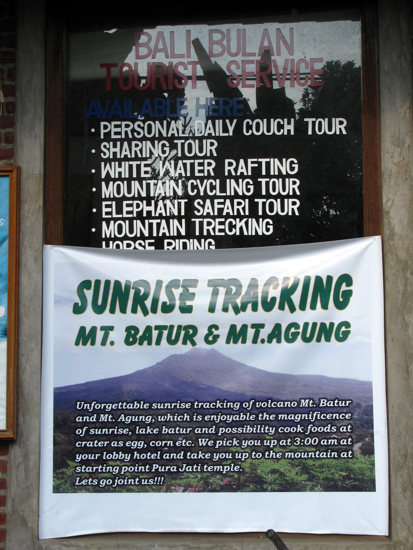 Tourism agency sign, Jalan Bisma, Ubud, Bali, Indonesia