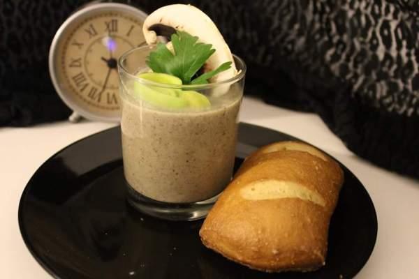 Champignon-Lauch-Cremesuppe