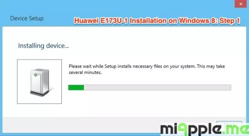 Huawei E173U-1 Installation on Windows 8: Step 1