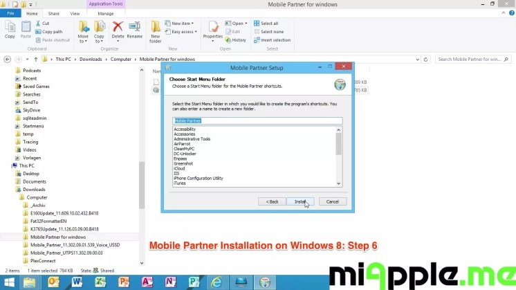 Mobile Partner Installation on Windows 8: Step 6