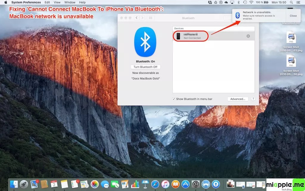 Fixing 'Cannot Connect MacBook To iPhone Via Bluetooth' - miapple me