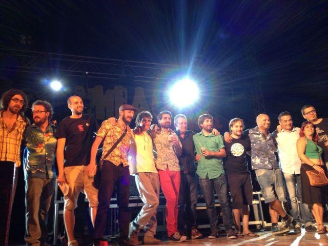 """Foto de grupo de la entrega de premios, del XVII Concurso de Maquetas """"Ciudad de Porcuna"""""""