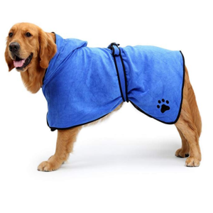 BONAWEN Dog Bathrobe Soft Super Absorbent