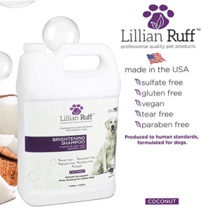 Lillian Ruff Waterless – No Rinse Quick Dry Shampoo Spray for Dogs and Cats