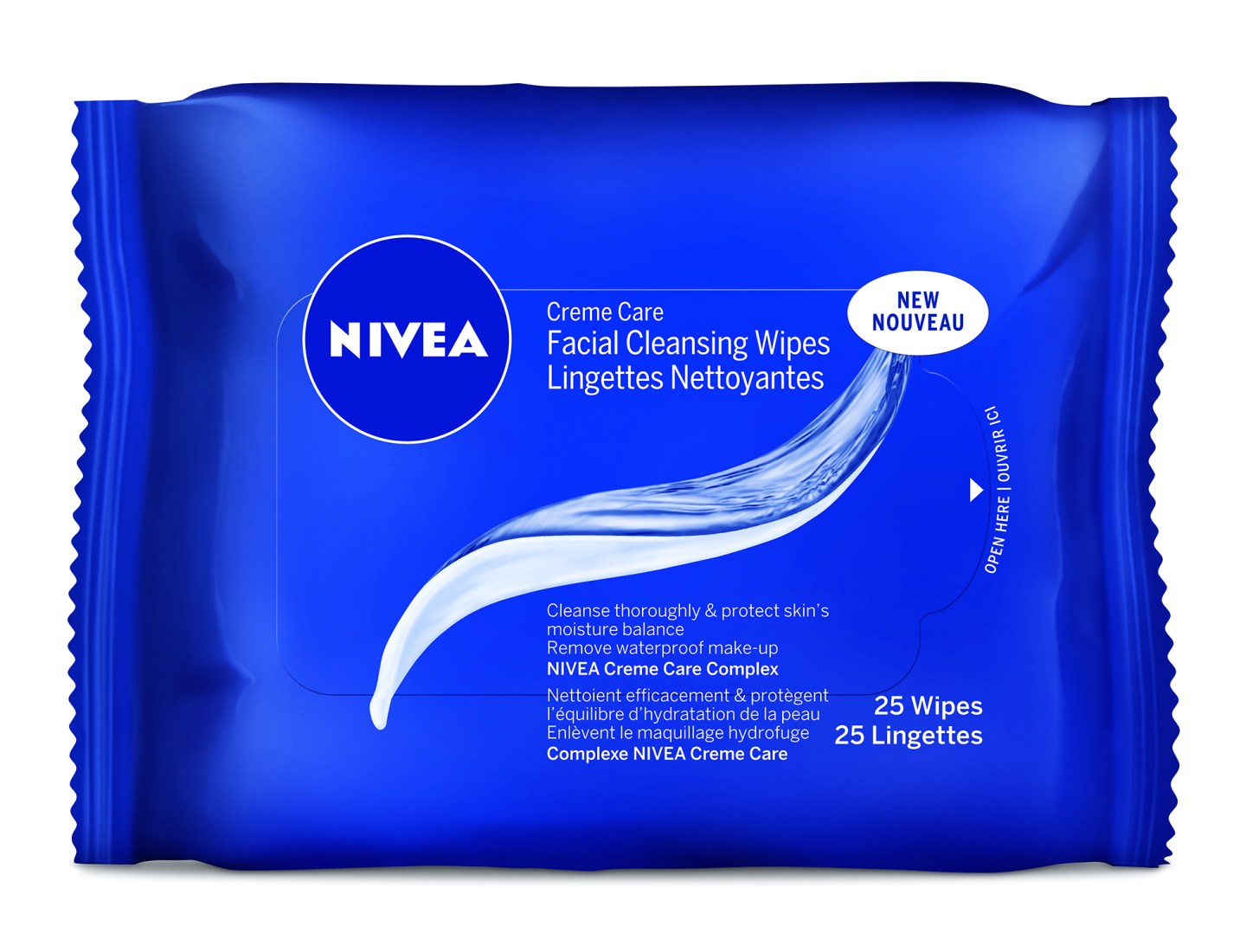 NIVEA Creme Care Facial Cleansing Wipes 25pc_056594010413