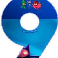 Números de PJ Masks para descargar e imprimir