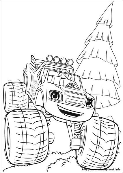 Dibujos para colorear de Blaze and the Monsters Machine  Mi Barquito