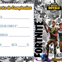 Fortnite Invitaciones de Cumpleanos
