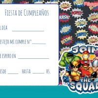 Invitaciones de Marvel Super Hero Squad