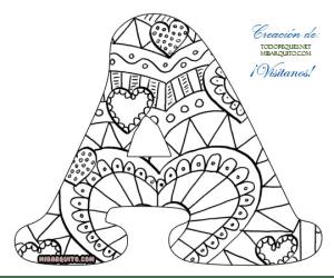 Letra-A-Abecedario-Mandalas---Mandalas-Alphabet-letters