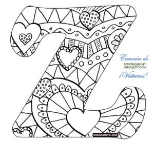 Letra z alfabetos mandalas