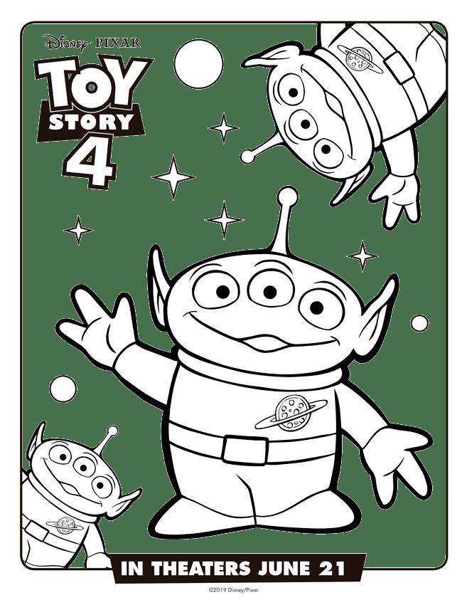 Marcianitos Toy Story 4 Dibujos Para Imprimir Y Pintar Mi Barquito