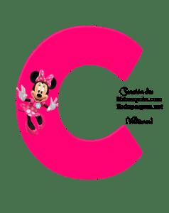 Alfabeto Minnie letras rosas