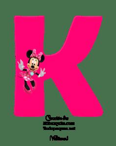abecedario Minnie letras rosas