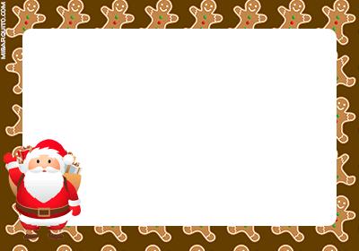 Tarjetitas Papa Noel para imprimir