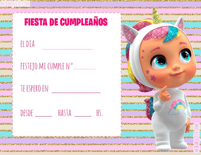 Cry Babies Tarjetas Invitaciones