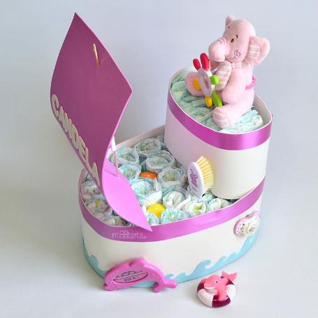 Barco de paales  Figuras de paales online  Regalo beb