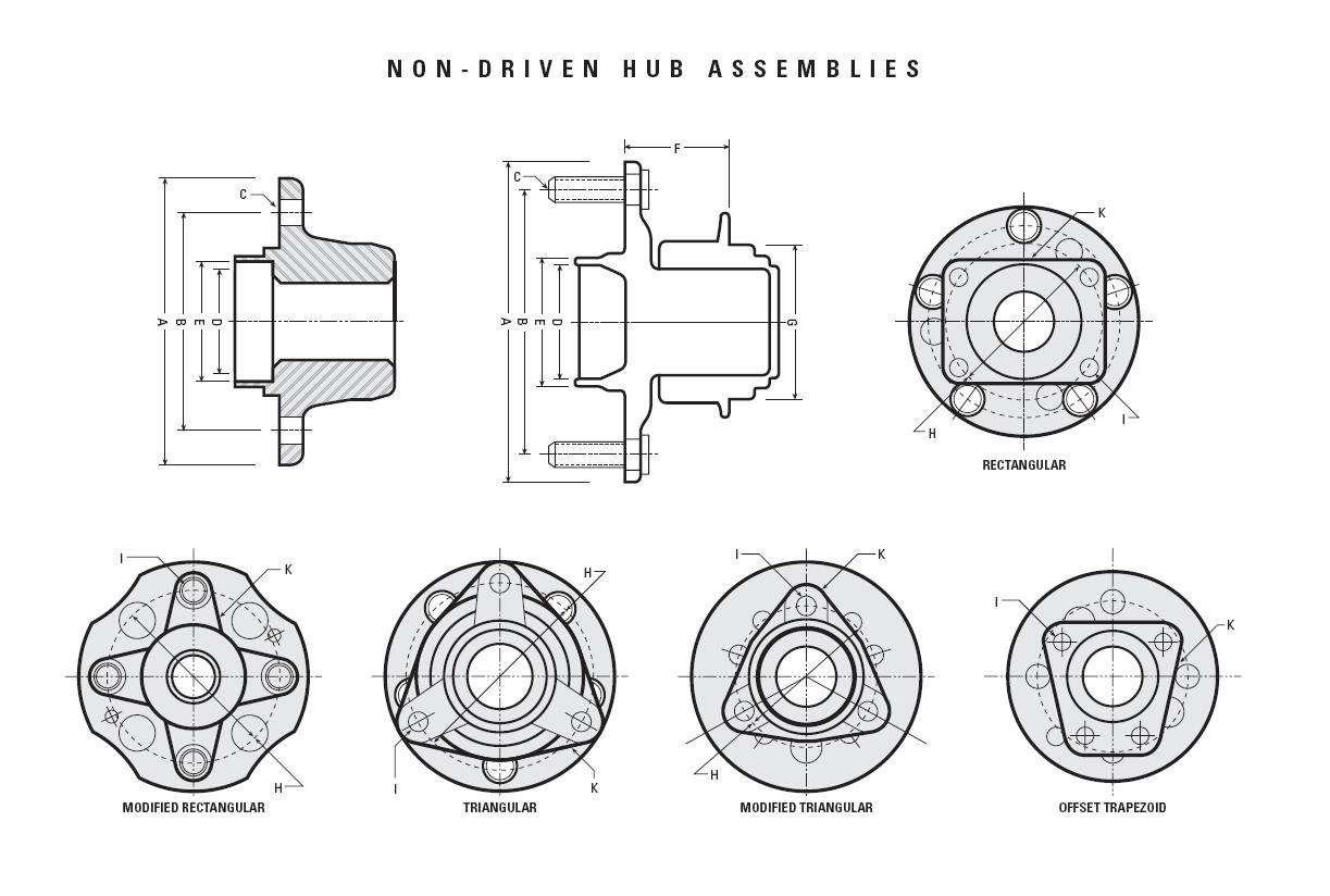 Wheel Bearing Hub Assembly Diagrams
