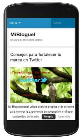 MiBloguel en versión móvil