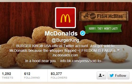 Burger King hackeado