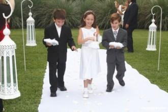 farolillos en ceremonia