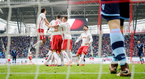 Un equipo fuerte y que saca buenos resultados: el RB Leipzig es el primer grancandidato a ascender a la Bundesliga. Foto: Prensa RB Leipzig