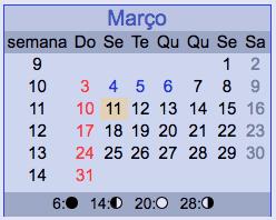 3月ブラジルカレンダー