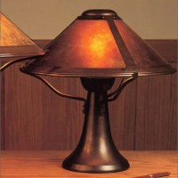 Mica Lamp Company 008 Small Trumpet Table Lamp