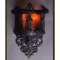 LF100 Small Gothic Wall Sconce - Vintage Iron - Mica Lamp ...