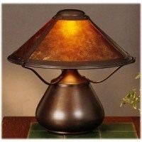 Mica Lamp Company 007 Beanpot Table Lamps