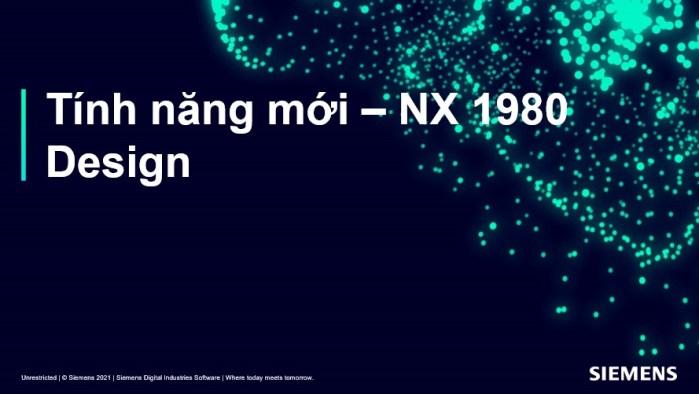 Phần mềm nx 1980 tính năng mới phần thiết kế