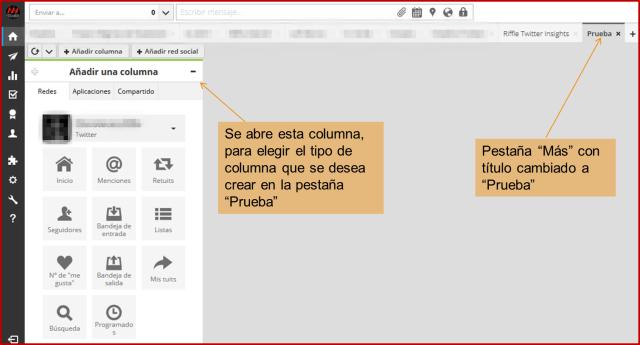 Editar columna a crear Hootsuite