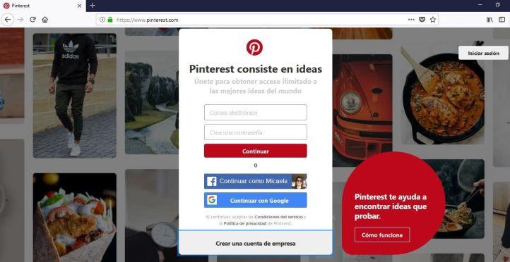 Cuenta Pinterest