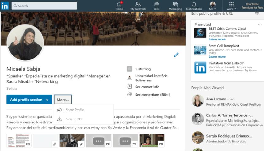 PDF Linkedin empleo